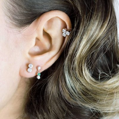 Lena-Cohen-Emerald-Diamonds-dangle-threaded-piercing-stud-cartilage-earring-handmade-from-18k-yellow-gold