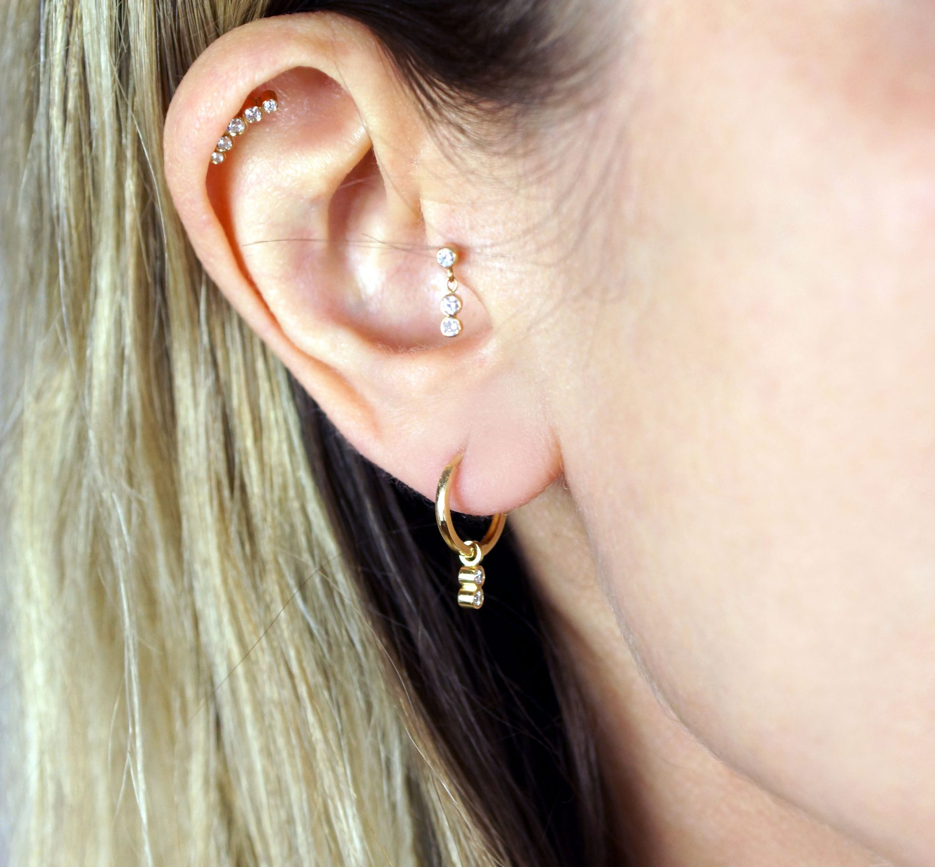 luxury piercing jewellery london uk lena cohen cartilage earrings trend