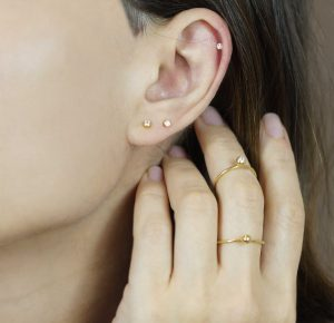 diamond studs with screw backs