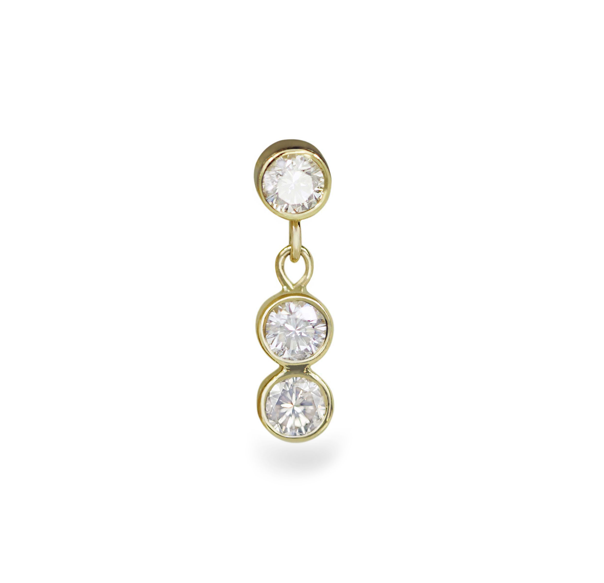 96856a875 Where to buy golden piercing jewellery We make 18k solid gold cartilage  earrings We sell golden