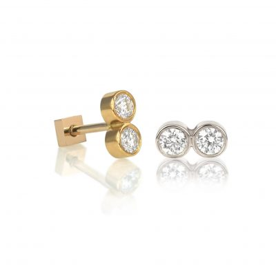 Yoter 18k Gold Cartilage Diamond Stud
