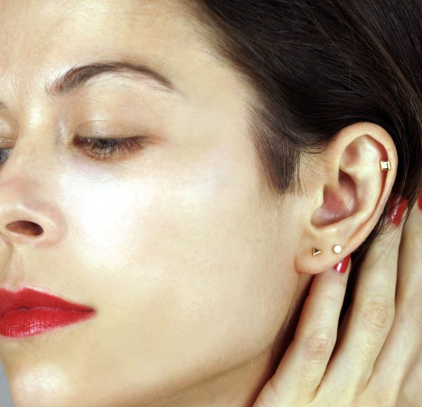 minimalist geametry helix tragus cartilage piercing jewelry lena cohen london curated ear fashion trends 2021