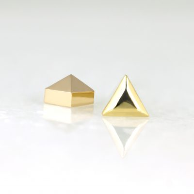 how-to-ear-styling–piercing-plain-gold-triangle-studs-screw-backs-gold-buy-online-lena-cohen-uk
