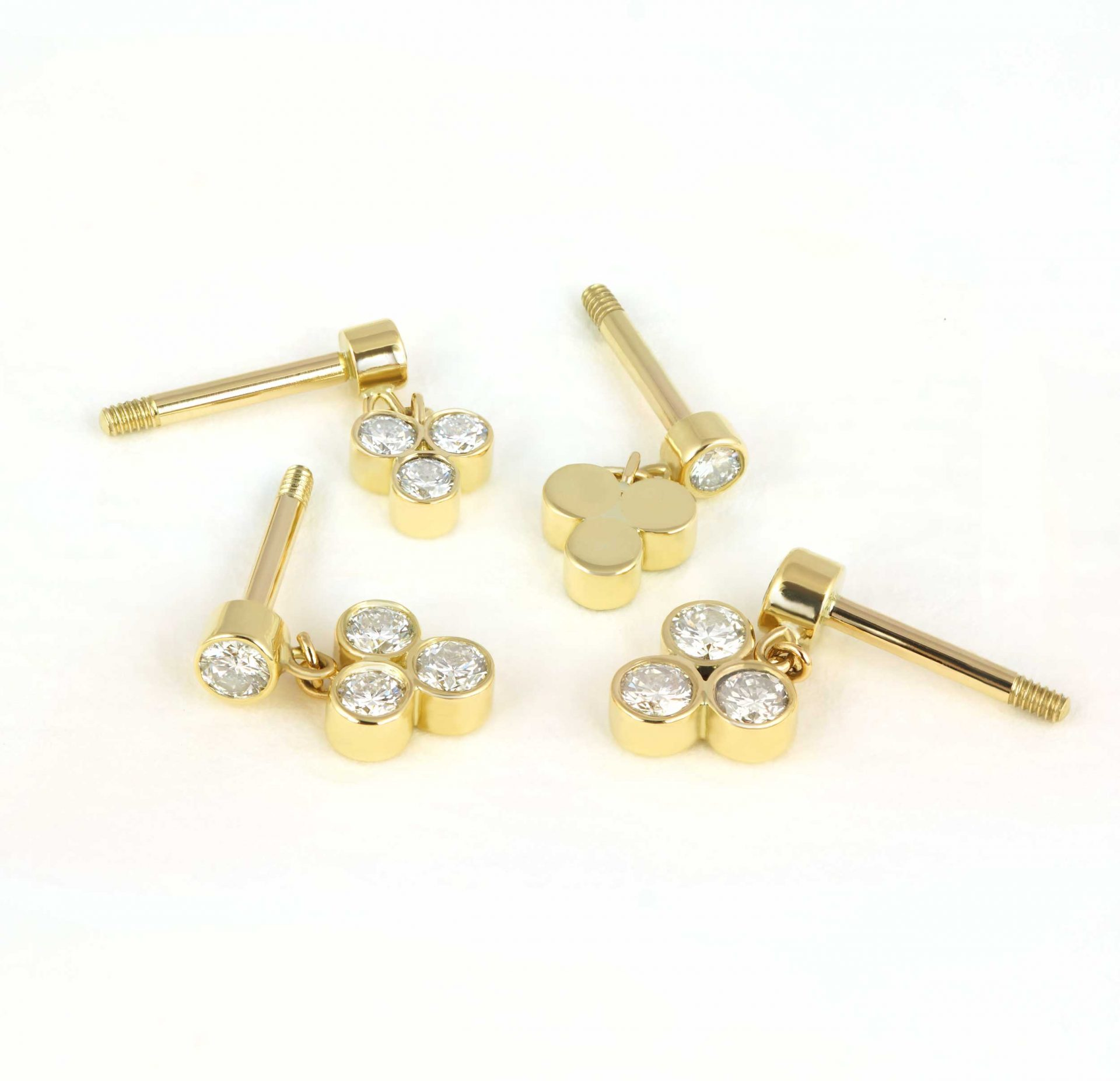 Trendy, London-based jewellery brand Lena Cohen Fine Piercing Jewellery offering a range of dainty and on-trend studs and hoops in only 18k gold and high quality natural gemstones