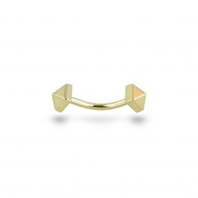 Unisex Piercing 18k Yellow Gold Curved Barbell
