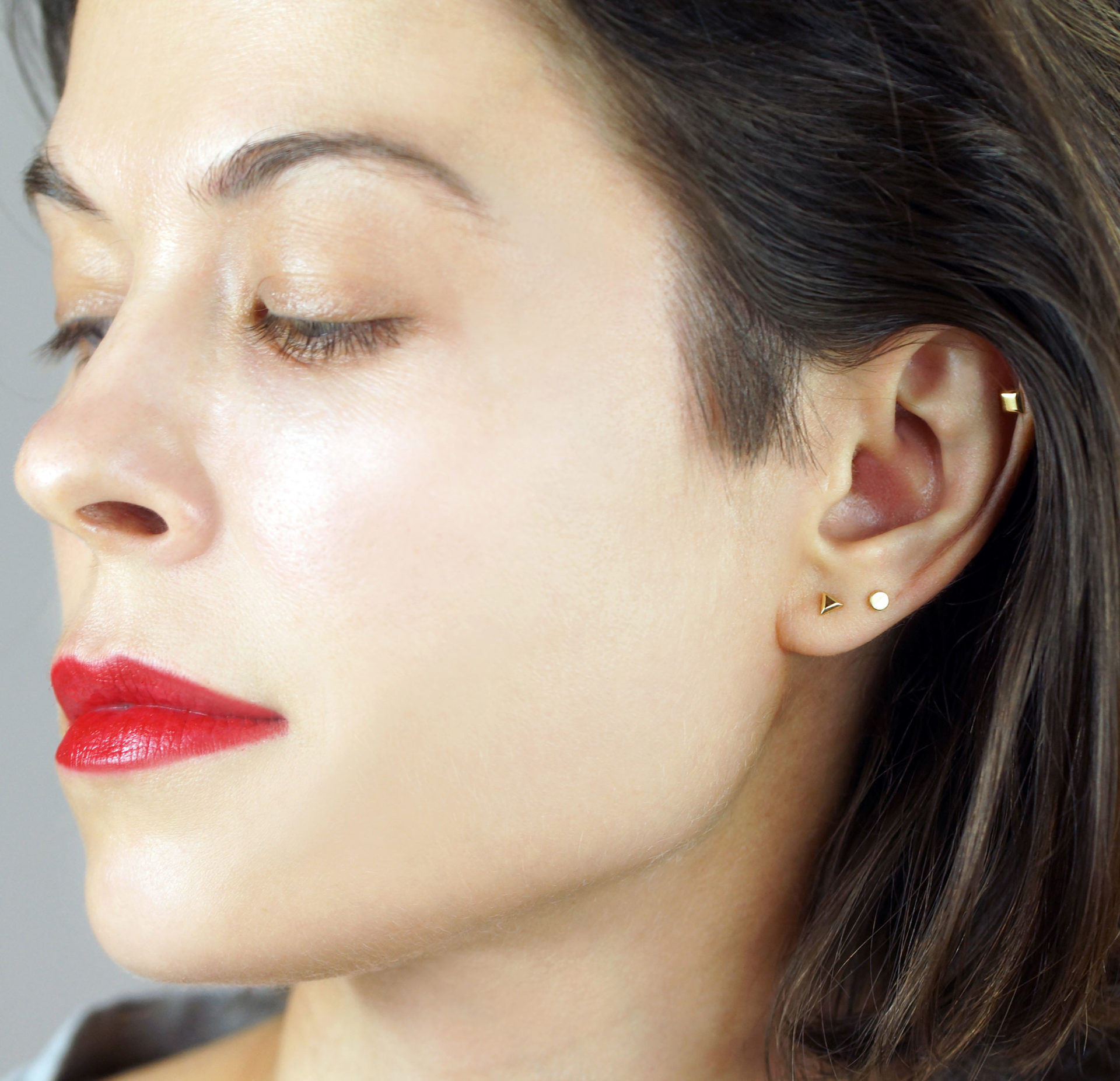 minimalist geametry helix tragus cartilage piercing jewelry lena cohen london tash curated ear fashion trends 2021