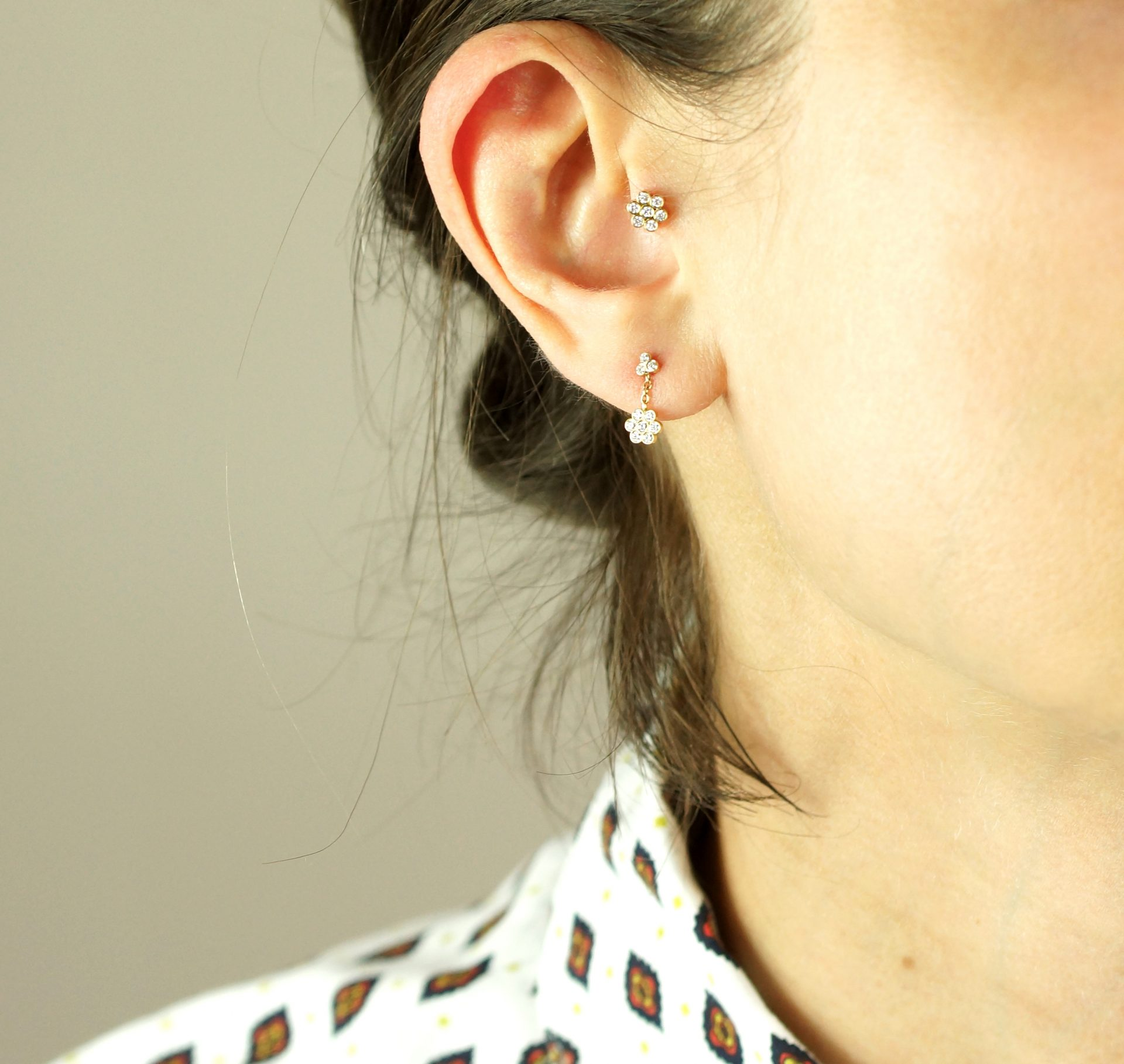 From dainty studs to golden hoops, Lena Cohen Fine Jewellery is a range of luxury piercing earrings to suit every ear design