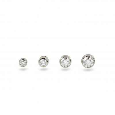 18k White Gold Single Diamond Stud
