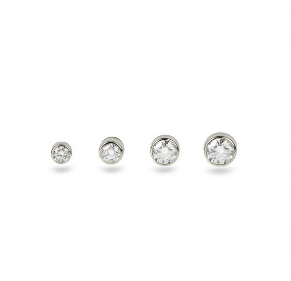 single diamond cartilage stud screw back lena cohen tash london luxury piercings