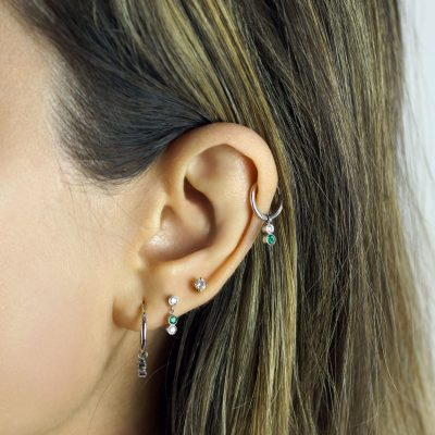 emerald-triad-lena-cohen-designer-cartilage-studs-and-huggie-hoop-earrings-piercing-combinations