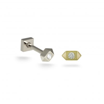 Sevivon 18k Yellow Gold Diamond Piercing Stud