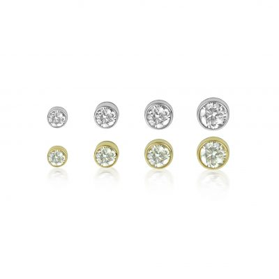 18k Gold Single Diamond Cartilage Stud