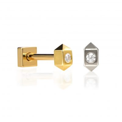 Sevivon 18k Gold Diamond Piercing Stud
