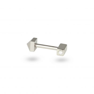 Hidden Gem White Gold Diamond Piercing Stud