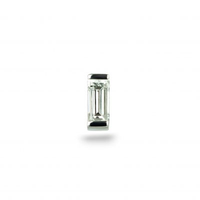 18k White Gold Baguette Diamond Piercing Stud