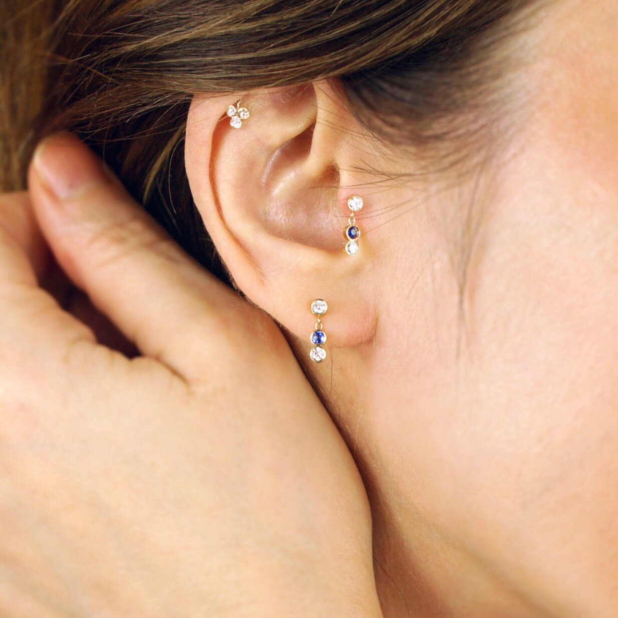 85bfeae29 Your ear cartilage deserves decoration. Look for a trusted jeweller who  sells tragus earrings made from precious metals and stones such as  diamonds, gold, ...