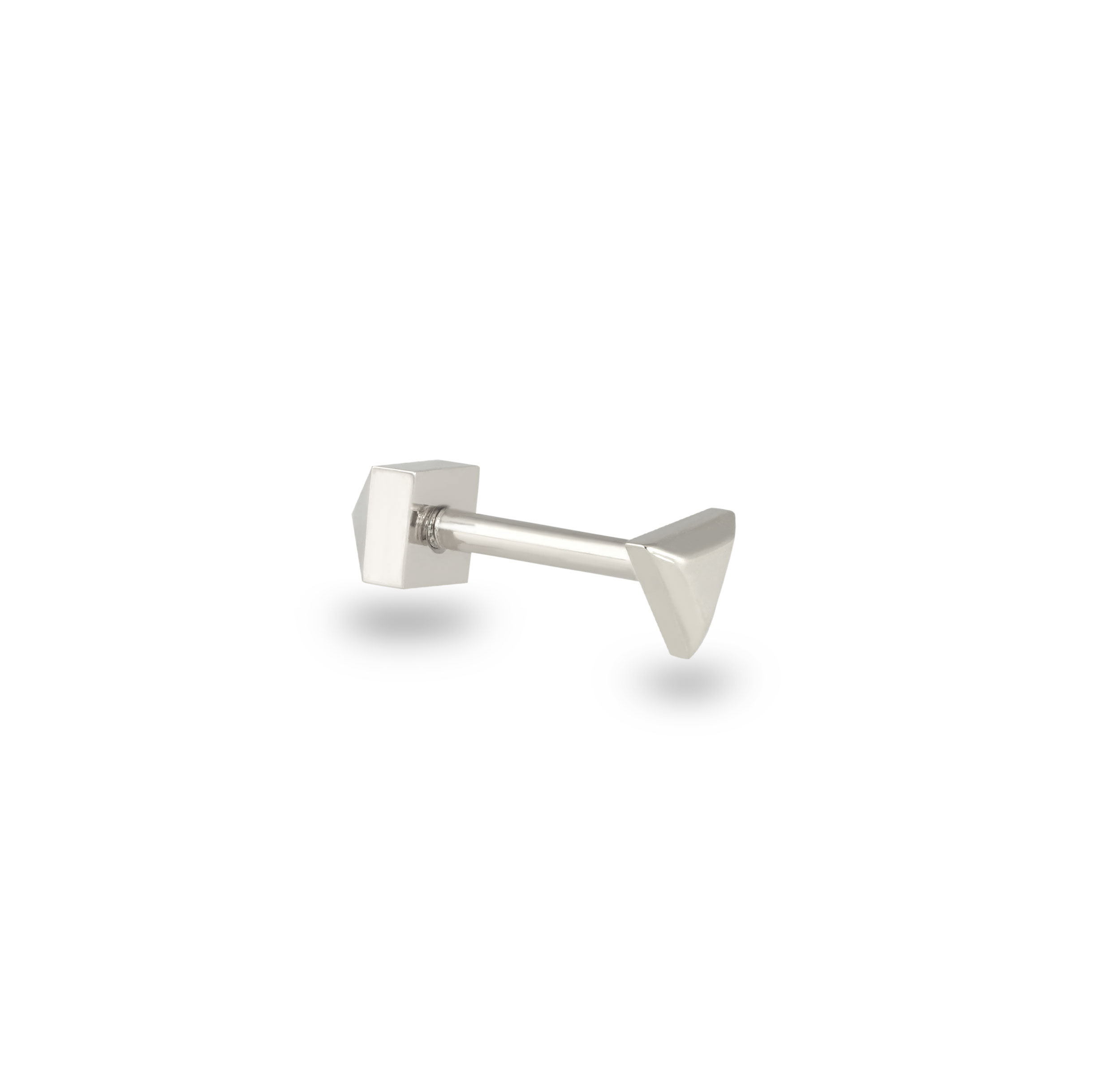 white-plain-minimalistic-piercing-studs-screw-backs-gold-buy-online-lena-cohen-uk-18-k-gold-piercings-london