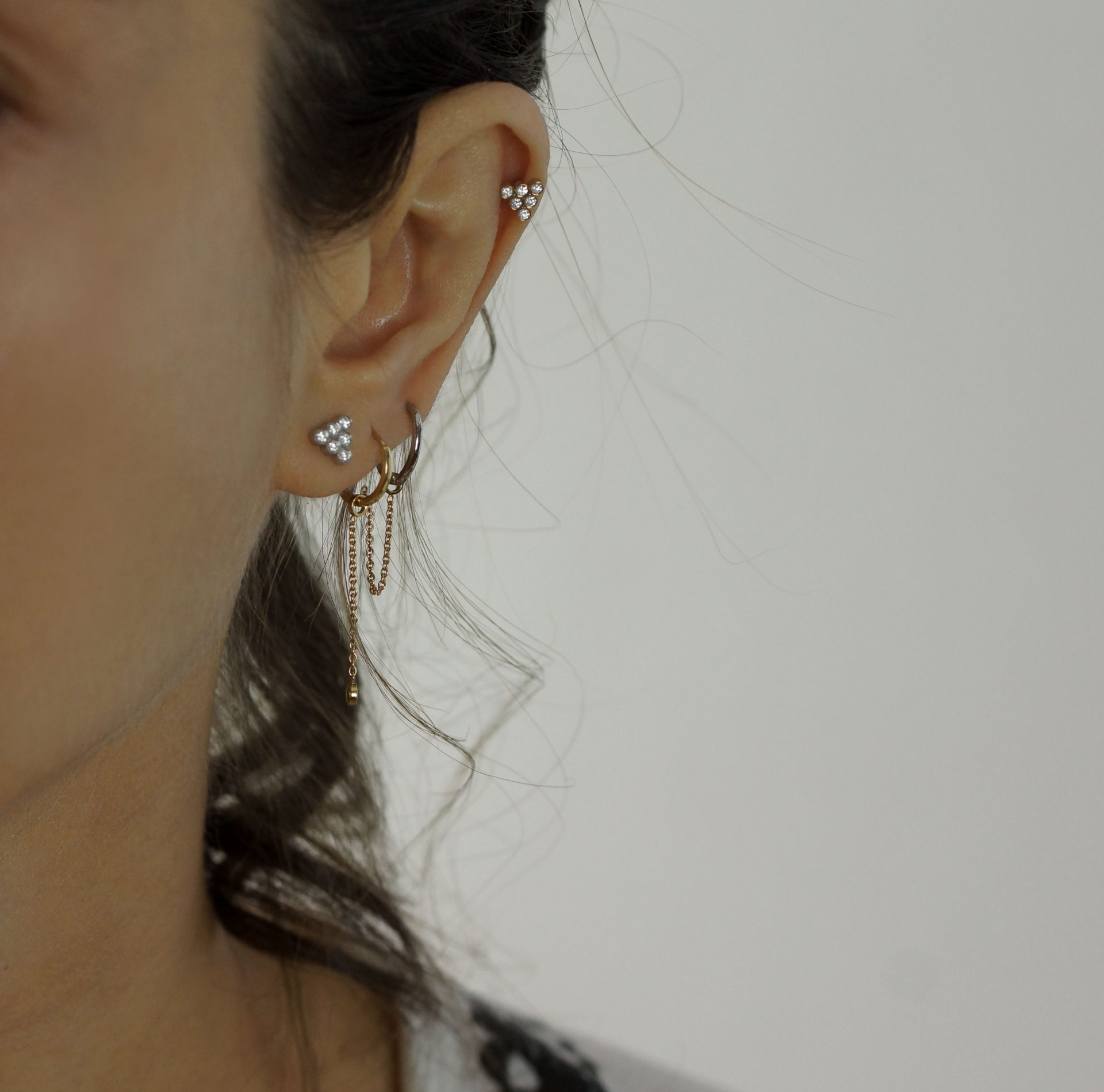 high-quality-cartilage-earrings–18k-white-and-yellow-gold-handcrafted-in-our-London's-Hatton-Garden
