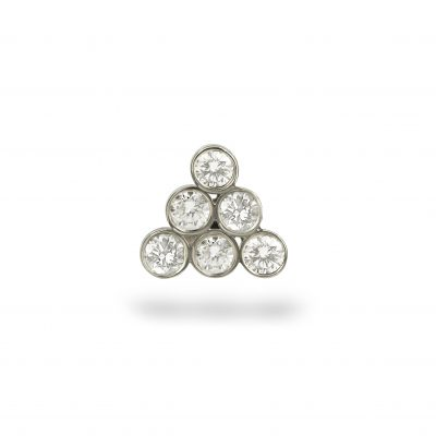 Diamond Gorka 18k White Gold Stud