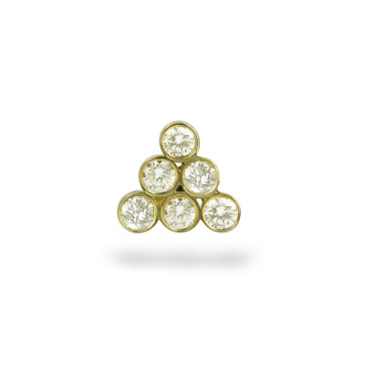 Diamond Gorka 18k Yellow Gold Piercing Stud