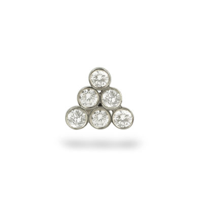 Diamond Gorka White Gold Piercing Stud