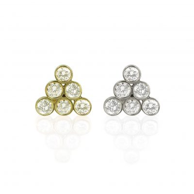 Diamond Gorka 18k Gold Cartilage Stud