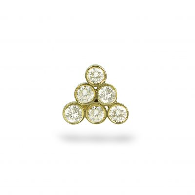 Diamond Gorka 18k Yellow Gold Stud