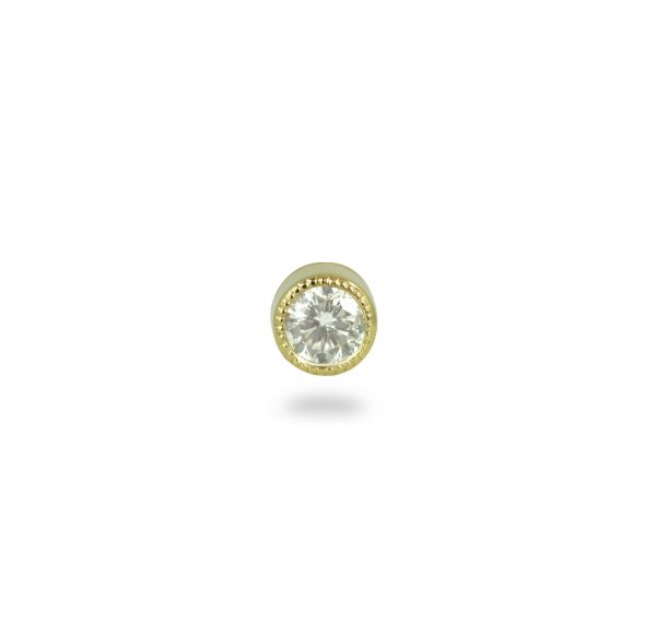 milgrain natural diamond luxury piercing stud lena cohen