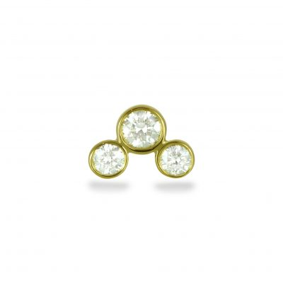 Golden Arch 18k Yellow Gold Diamond Stud