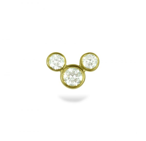 Mickey mouse stud Earring Lena Cohen piercing earrings Screw back l with safety back Mickey mouse cartilage stud