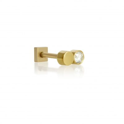 Fusion 18k Yellow Gold Diamond Stud