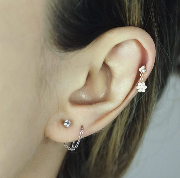 A very good choice for multiple ear piercing combinations in 2020