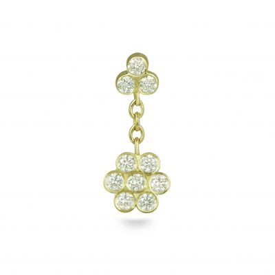 Swinging Ten Diamonds 18k Yellow Gold Flower