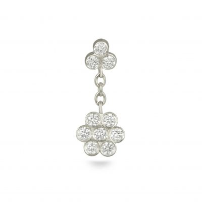 Swinging Ten Diamonds 18k White Gold Flower