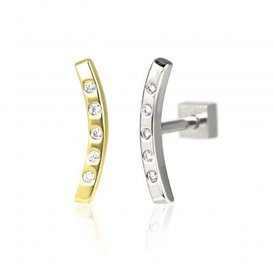 18k Gold Bow Diamond Stud