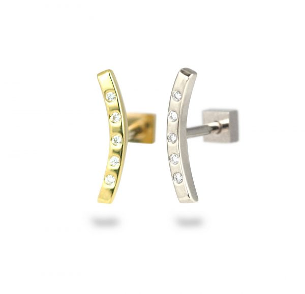 18k gold cartilage piercing earrings proves minimalism can be statement making