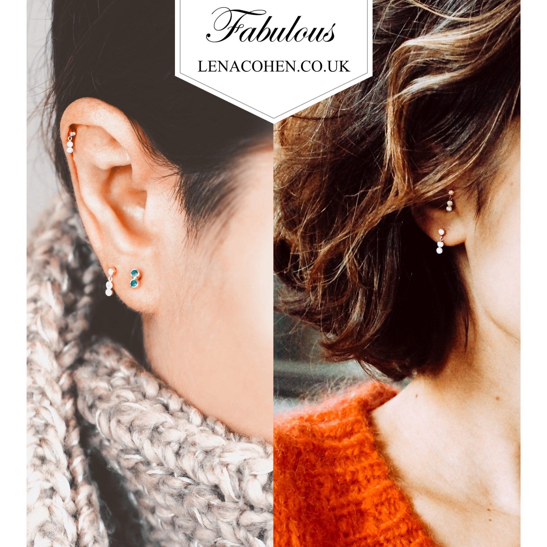 range of Luxury Piercing Earrings with the dangling addition