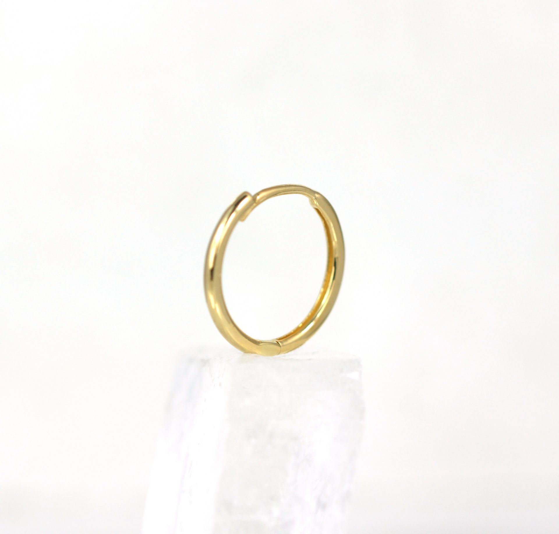 Huggie-Hoop-Earrings-Luxury-Piercing-Lena-Cohen-London-18k-Solid-Yellow-Gold-