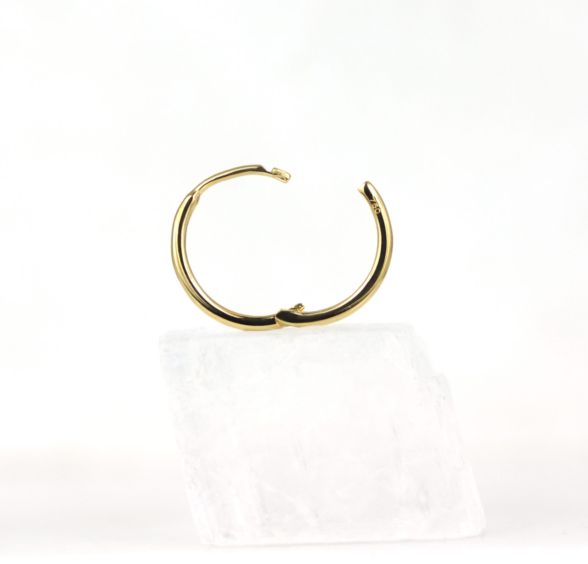 Huggie-Hoop-Earrings-Luxury-Piercings-Lena-Cohen-18k-Solid-Yellow-Gold-