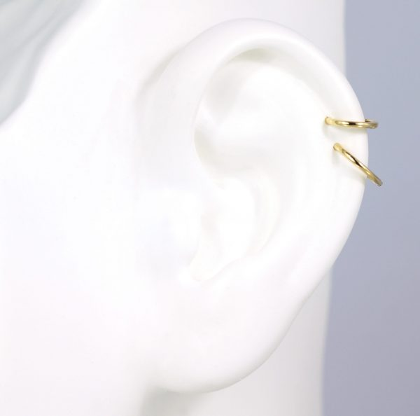 Huggie earrings are the latest jewellery trend to take over your Instagram feed clicker 18k gold single hoop huggie earring lena cohen london