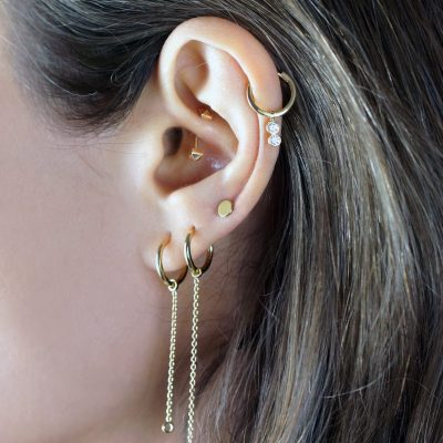 18k-Solid-Gold-Huggie-Hoop-Earrings-Luxury-Piercings-Lena-Cohen-London-Luxury-Cartilage-Earrings