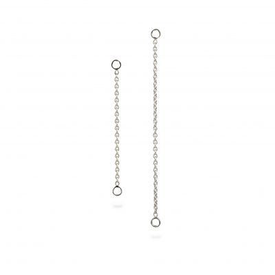 18k White Gold Double Jump Chain
