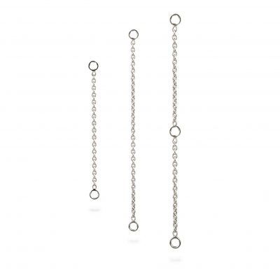 18k White Gold Gold Add-On Chain Transformer