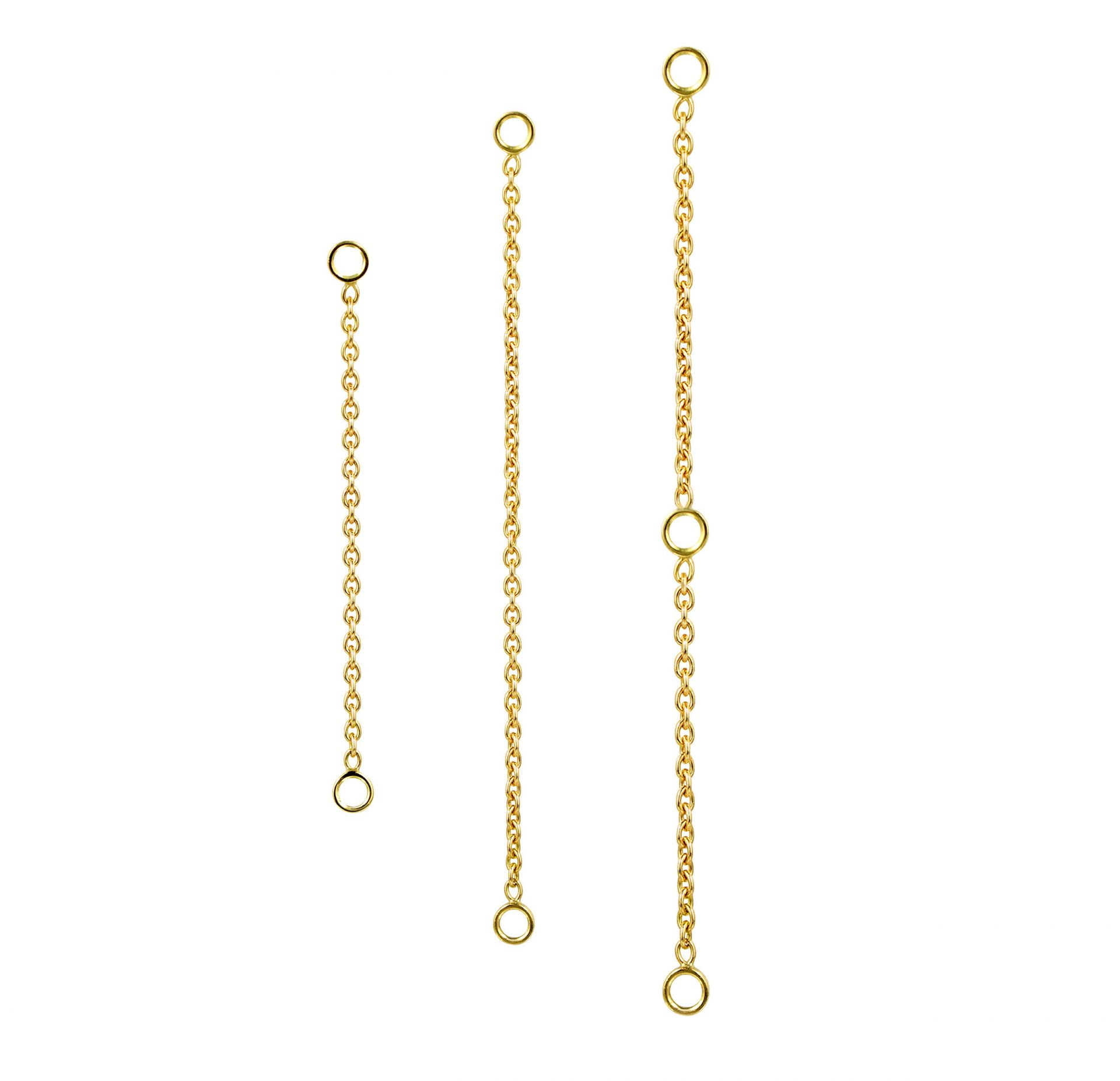 18k-White-Yellow-Gold-Triple-Jump-Chain-Transformer-for-Huggie-Hoops-Clickers-UK-Designer-Luxury-Piercings-Lena-Cohen
