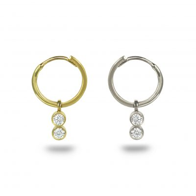 18k Gold Duo Diamond Charm