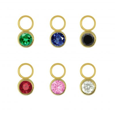 18k Yellow Gold Gemstone Charm