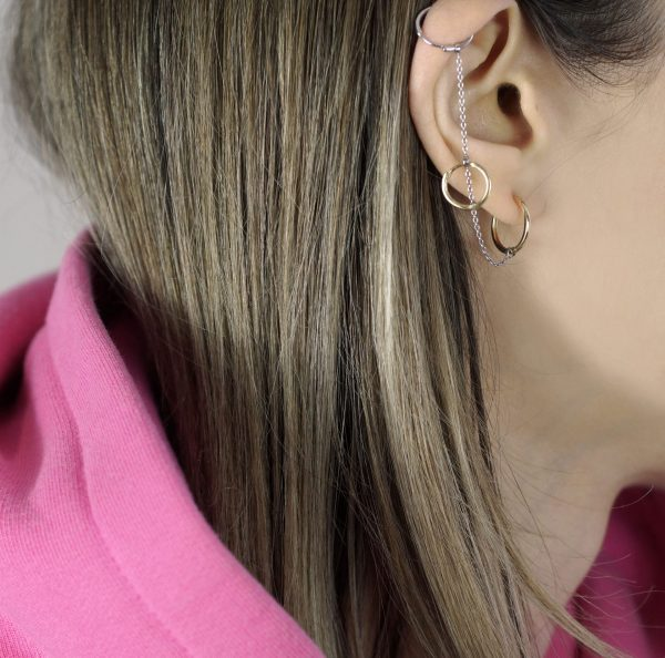 Designer cartilage earrings can be styled, stacked and layered as you please