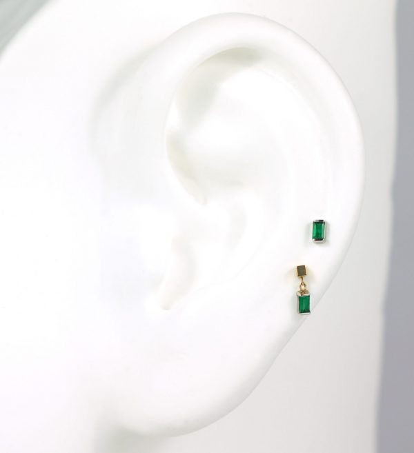 natural emeralds piercing studs lena cohen