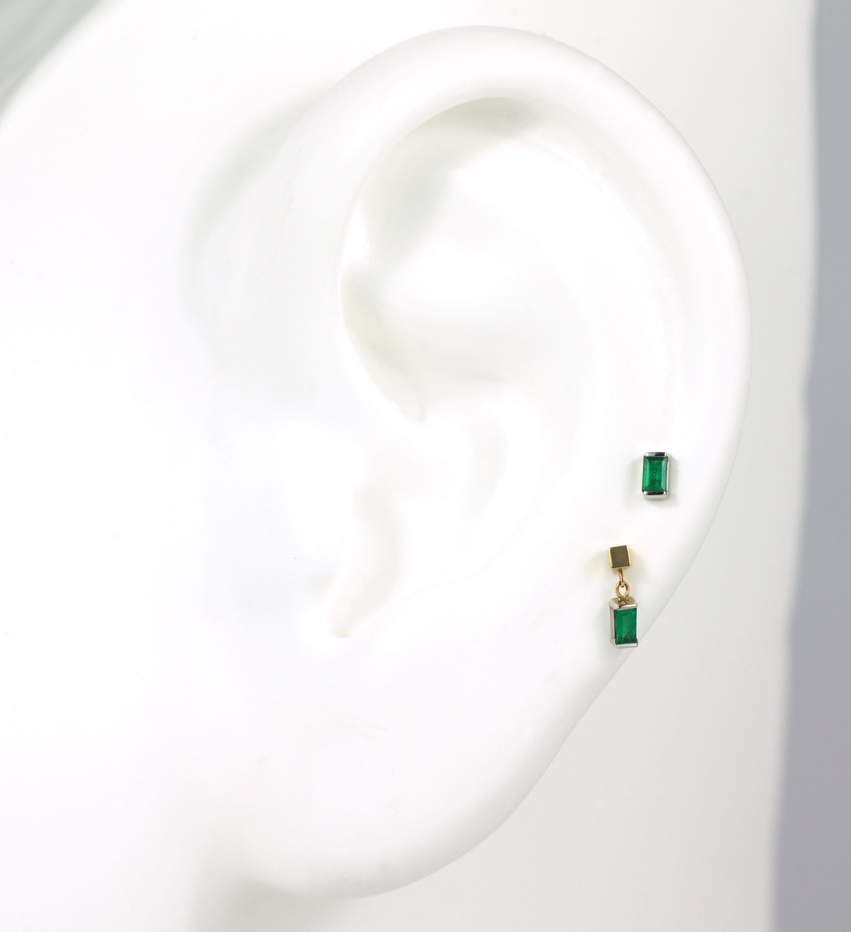 Luxury-Piercing-Set-Multi-Buy-Option18k-White-Gold-Emerald-Baguette–Minimalist-Piercing-Diamond-Stud-Lena-Cohen