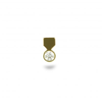 18k Yellow Gold Medal Diamond Stud
